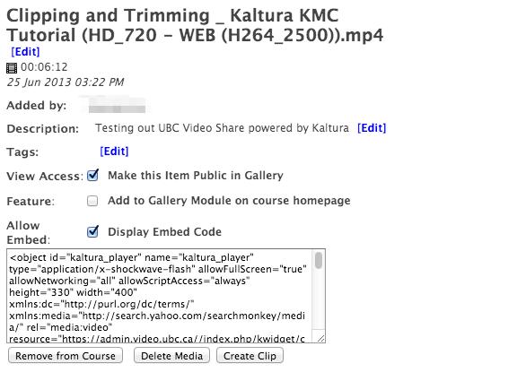 Documentation:Kaltura/Embed a Video (How To) - UBC Wiki
