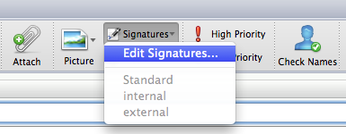 Edit Signatures Outlook for Mac