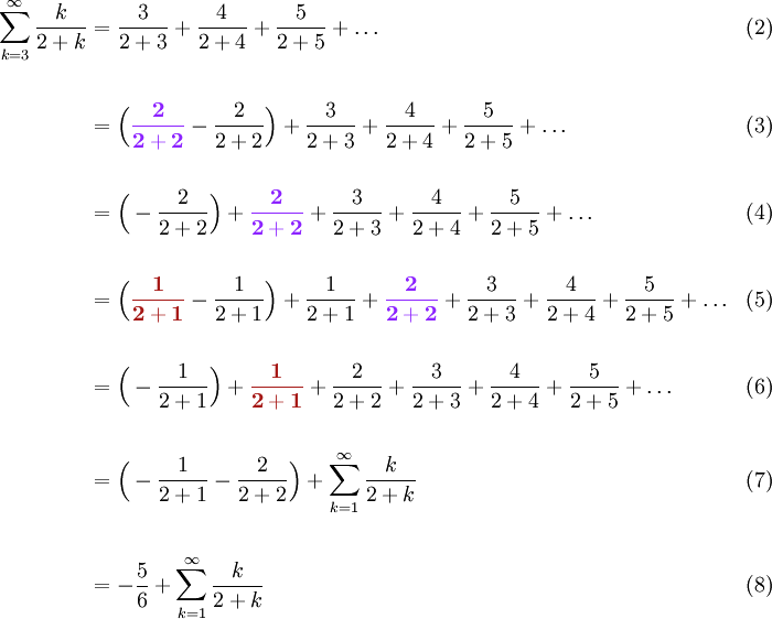 Example: Changing the Summation Limits | The Infinite Series