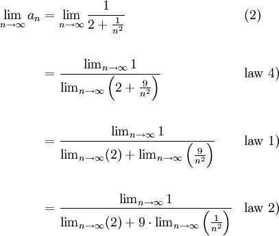 How To Recall An Email >> Limit Laws Example | The Infinite Series Module