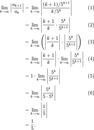 Ratio Test Example With An Exponent The Infinite Series Module