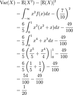find the expected value of a joint pdf