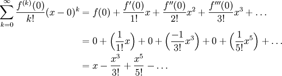 Maclaurin Expansion of sin(x) | The Infinite Series Module