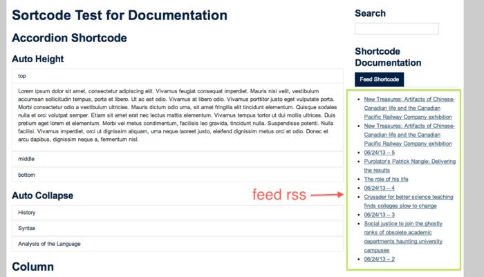 Documentation:UBC Content Management System/CLF Theme/RSS