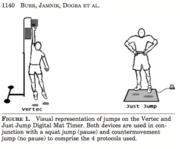 Visual Respresentation of Jumps on the Vertec and Just Jump Digital Mat Timer.