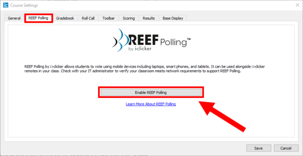 Enable REEF Polling
