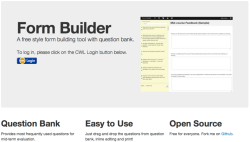 Documentation:Form Builder/What is it - UBC Wiki