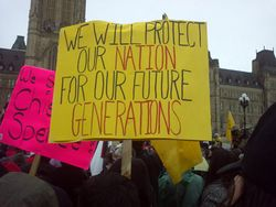 Protesters in Ottawa in 2013