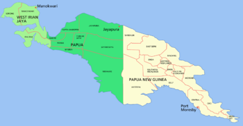 Island of New Guinea Map