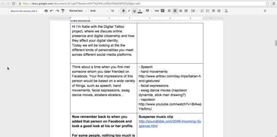 Google Docs Script Example